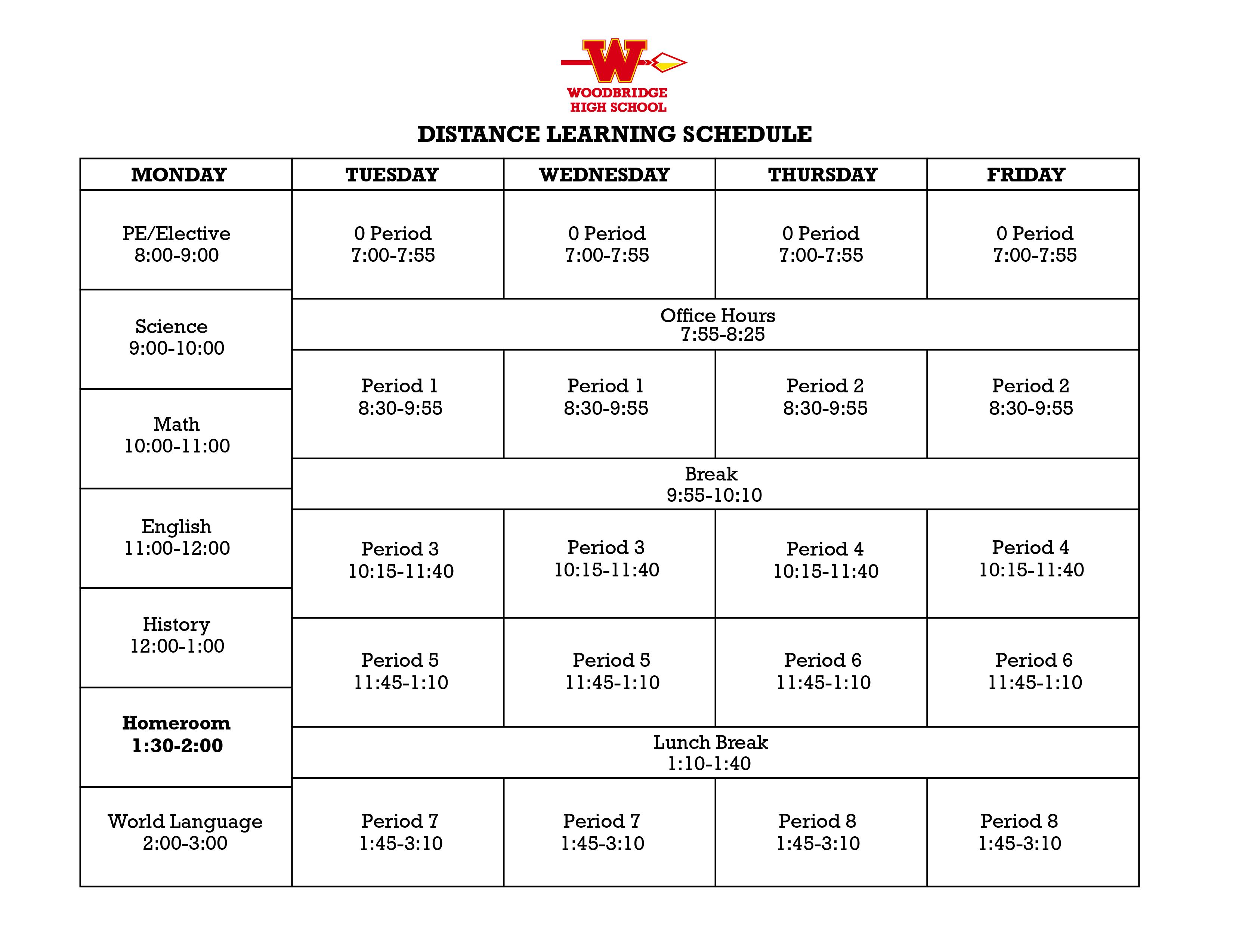 grand terrace high school bell schedule