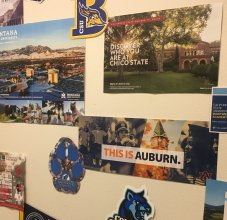 college wall
